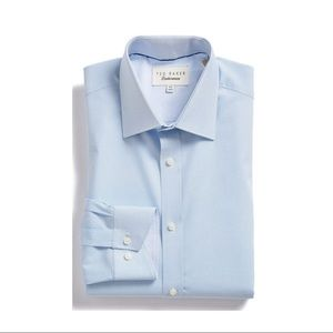 'Langar' Trim Fit Micro Pattern Dress Shirt
